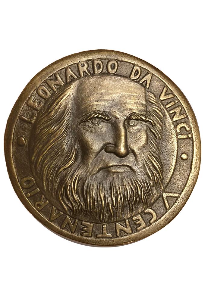 leonardo-da-vinci-fronte-medaglia-in-bronzo